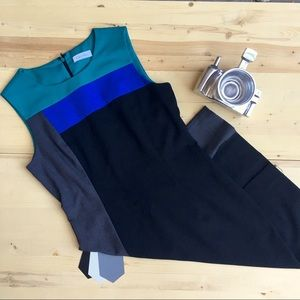 Calvin Klein Color Block Midi Dress